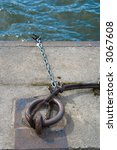 Boating Rope on Dock - stock photo