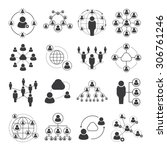 social network icons  people... | Shutterstock .eps vector #306761246