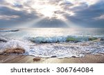beautiful sea in the morning. | Shutterstock . vector #306764084