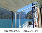 ferry trip through milford... | Shutterstock . vector #306764354