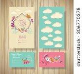 design for invitations ... | Shutterstock .eps vector #306770378