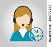 call center. women call center. ... | Shutterstock .eps vector #306772904