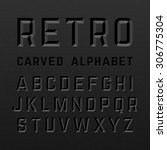black retro style carved... | Shutterstock .eps vector #306775304