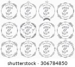 collection of vector round... | Shutterstock .eps vector #306784850