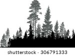 illustration with black forest... | Shutterstock .eps vector #306791333