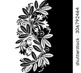 Stock vector abstract black white floral background vector 306792464