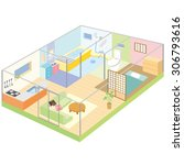 layout of the house | Shutterstock .eps vector #306793616