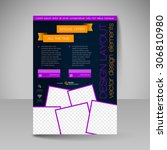 template for brochure or flyer. ... | Shutterstock .eps vector #306810980