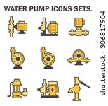 vector icon of electric water... | Shutterstock .eps vector #306817904