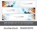 web header or banner for your... | Shutterstock .eps vector #306833093