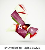 3d geometric shapes with sample ... | Shutterstock .eps vector #306836228