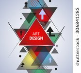 abstract composition  geometric ... | Shutterstock .eps vector #306841283