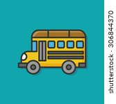 school bus color line icon | Shutterstock .eps vector #306844370