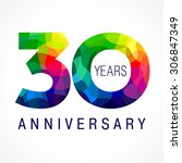 30 years old celebrating... | Shutterstock .eps vector #306847349