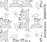 vector seamless pattern. kids ... | Shutterstock .eps vector #306847478