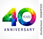 40 years old celebrating... | Shutterstock .eps vector #306849320