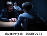 picture of police interrogation ... | Shutterstock . vector #306850193