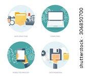 data storage  structure ... | Shutterstock .eps vector #306850700