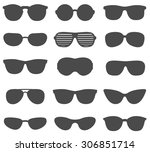 glasses and sunglasses vector... | Shutterstock .eps vector #306851714