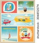 summer logo and labels design... | Shutterstock .eps vector #306852074