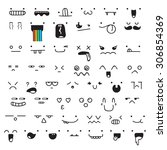 set of 50 different pieces of... | Shutterstock . vector #306854369