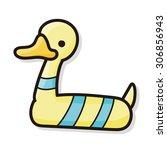 lifebuoy color doodle | Shutterstock .eps vector #306856943