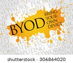 byod acronym word cloud concept | Shutterstock .eps vector #306864020