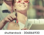 real estate and family concept  ... | Shutterstock . vector #306866930