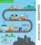 city infographics background... | Shutterstock .eps vector #306869000
