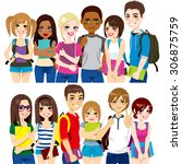 illustration of two different...   Shutterstock .eps vector #306875759