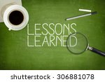 lessons learned concept on... | Shutterstock . vector #306881078