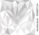 abstract white gray polygons... | Shutterstock .eps vector #306887114