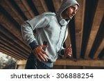 jogger running in city... | Shutterstock . vector #306888254