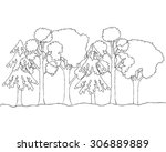 tree silhouette isolated on...   Shutterstock .eps vector #306889889