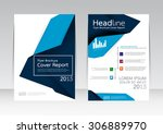 vector design for cover report... | Shutterstock .eps vector #306889970