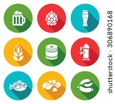 beer and appetizer icons set....   Shutterstock .eps vector #306890168