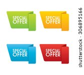 vector special offer origam... | Shutterstock .eps vector #306895166