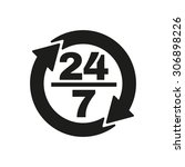 the 24 7 icon. open and... | Shutterstock .eps vector #306898226