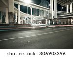 city road viaduct streetscape...   Shutterstock . vector #306908396