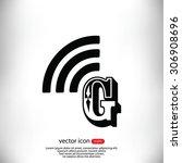 letter g  icon  | Shutterstock .eps vector #306908696