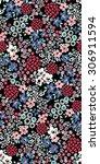 seamless cute flower vector... | Shutterstock .eps vector #306911594