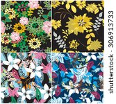 floral seamless pattern  ... | Shutterstock .eps vector #306913733