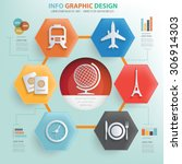 travel concept info graphic... | Shutterstock .eps vector #306914303