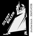 silent killer hired assassin or ... | Shutterstock .eps vector #306914558