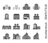 building icon set 4  vector... | Shutterstock .eps vector #306917318