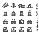 building icon set 2  vector... | Shutterstock .eps vector #306917330