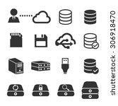Data Storage Icon Set