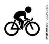 bike icon vector | Shutterstock .eps vector #306918473