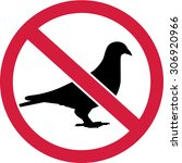 doves prohibited sign | Shutterstock .eps vector #306920966