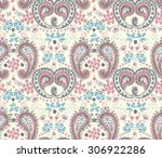 vector seamless paisley pattern   Shutterstock .eps vector #306922286